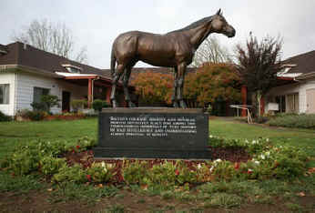 seabiscuit bronze at the ranch